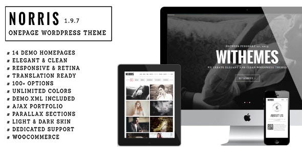 Norris - Elegant Onepage Wordpress Theme - Portfolio Creative