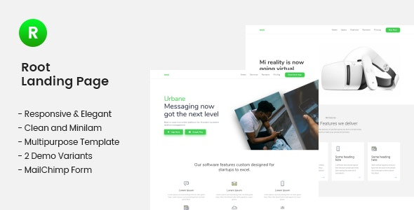 Root Multi-use Landing Page Template - Landing Pages Marketing