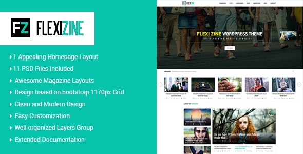 Flexi - PSD Template for Blog, Personal and News - Miscellaneous Photoshop