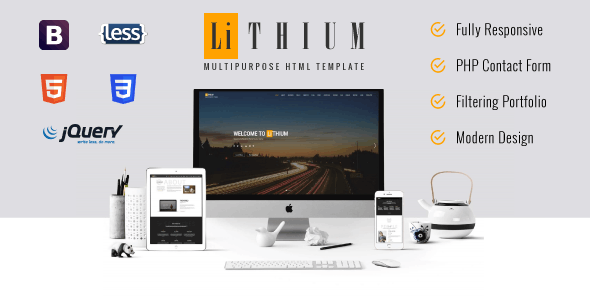 Lithium - Multipurpose Business and Corporate HTML Template - Business Corporate