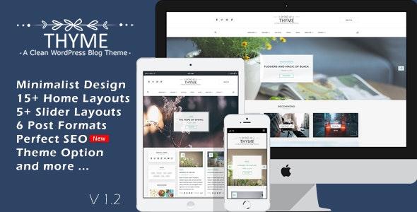 Thyme - A Responsive WordPress Blog Theme - Personal Blog / Magazine