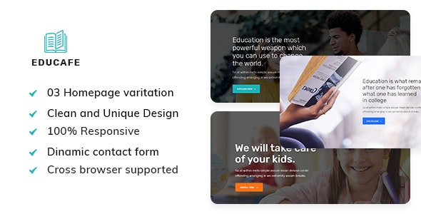 Educafe - Eduaction and Online Learning Academy Template - Business Corporate