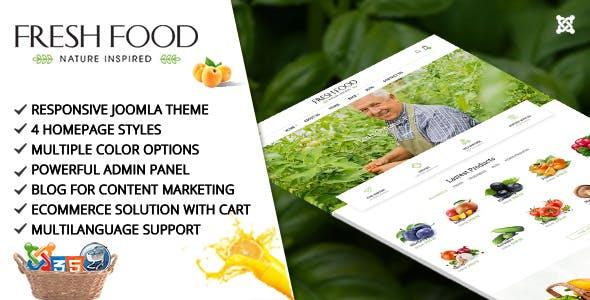 Fresh Food – Joomla Template for Organic Food/Fruit/Vegetables