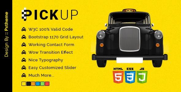 Pickup Cab PSD HTML Template