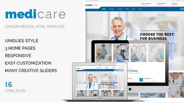 Medicare - Medical HTML Template - Health & Beauty Retail