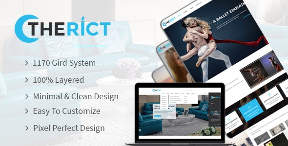 Therict - Multipurpose PSD Template - Creative Photoshop
