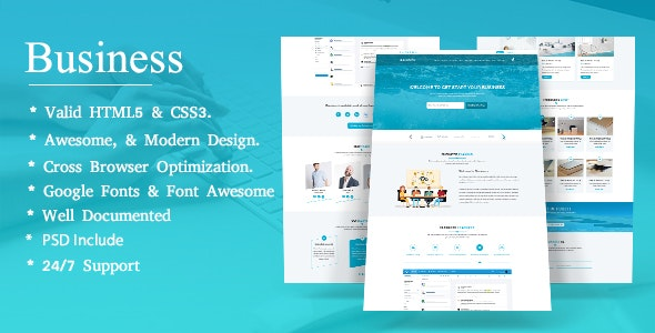 BBusiness - Onepage Business Landing Page Template - Business Corporate