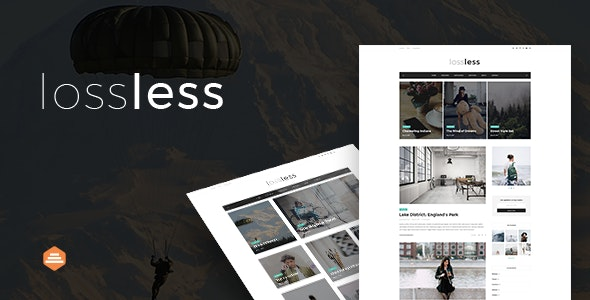 Lossless - Blog PSD Template - Personal Photoshop