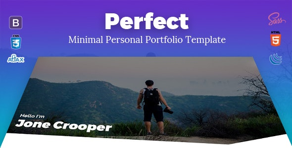 Perfect - Minimal Personal Portfolio Template - Personal Site Templates