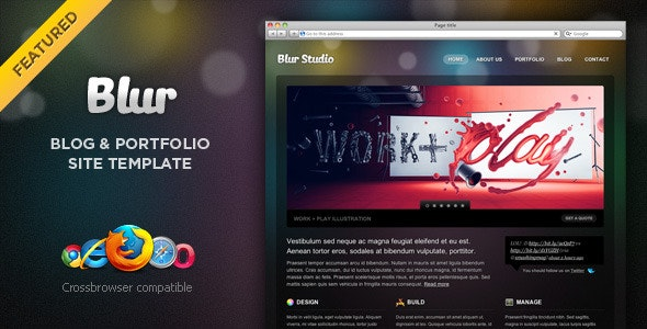 Blur - Portfolio and Blog Template - Portfolio Creative