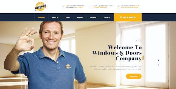 Windows&Doors - Manufacturing PSD Template