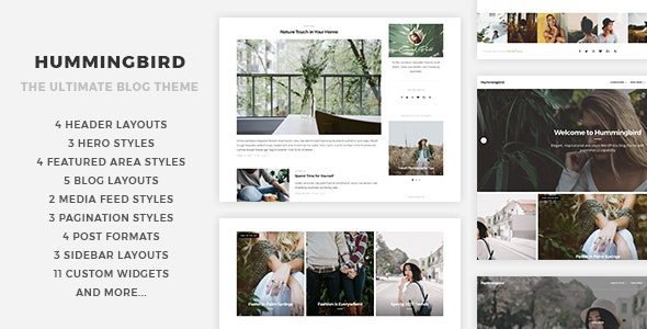 Hummingbird - The Ultimate Blog Theme - Personal Blog / Magazine