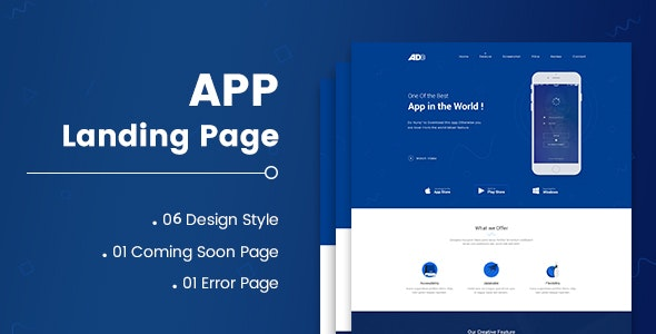 AD - App Landing Page - Creative Site Templates