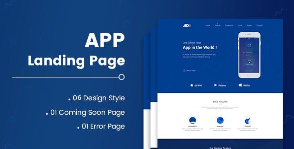 AD - App Landing Page