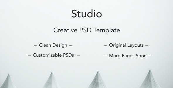 Studio Clean PSD Template - Creative Photoshop