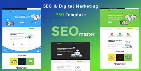 SEOmaster - SEO Company And Digital Agency PSD Template - Marketing Corporate