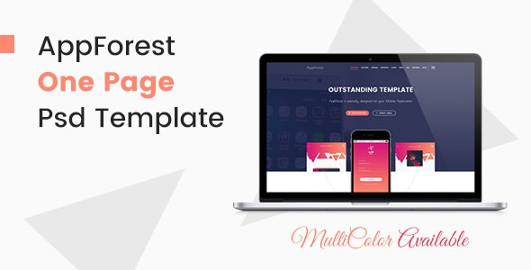 AppForest - Awesome Mobile App PSD Template - Software Technology