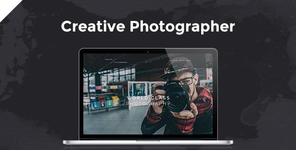 Creative Photographer PSD Template - Photography Creative