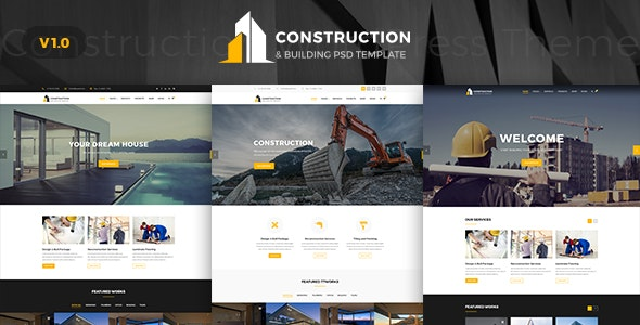 Contruction - Construction PSD Template - Business Corporate