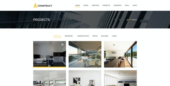 Construction - Construction Company PSD Template