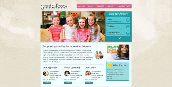 Peekaboo - Children Theme HTML Template