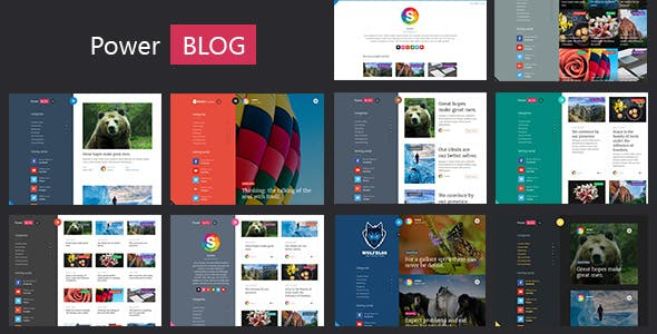 PowerBlog - Modern AJAX Blog Theme