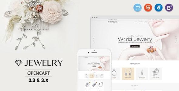 Jewelry - Responsive Opencart 2.3 $ 3.x Theme - Health & Beauty OpenCart