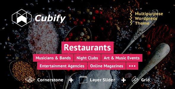 Cubify | Multi-purpose entertainment WordPress theme