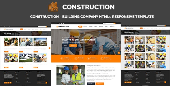 Construction - Building Company HTML5 Responsive Template - Corporate Site Templates