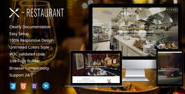 Restaurant - A Responsive WordPress Theme - Restaurants & Cafes Entertainment