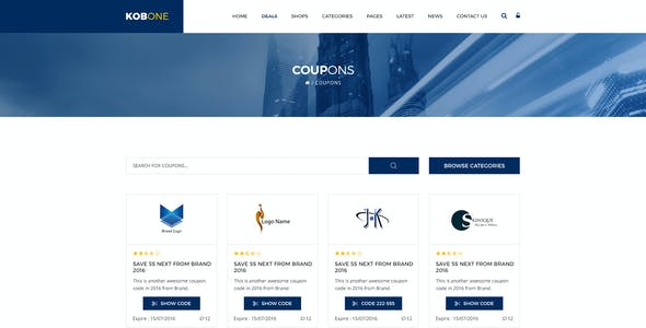 Discount Code Templates from ThemeForest