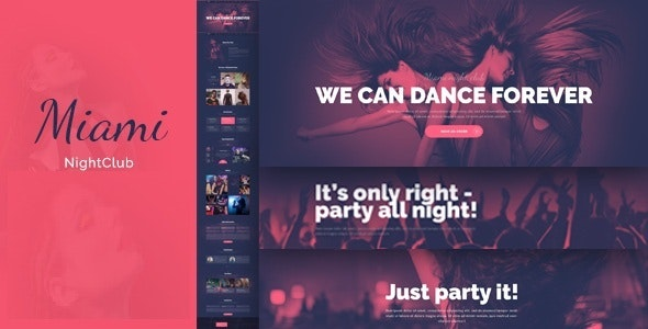 Miami - Night Club HTML Template - Nightlife Entertainment