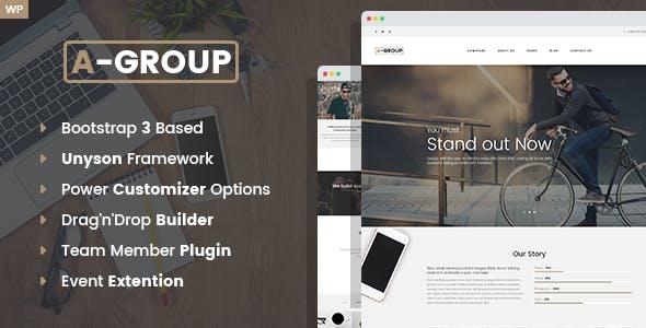 A-Group -  Business Company WordPress theme
