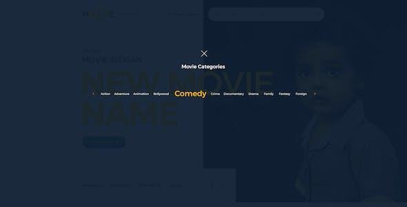 MOVIIE - Online Movie PSD Template