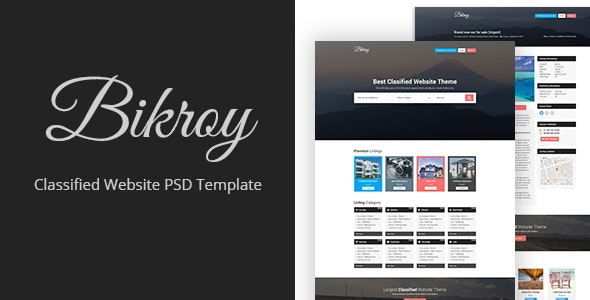 Bikroy - Classified, Directory Listing Website PSD Template - Miscellaneous Photoshop