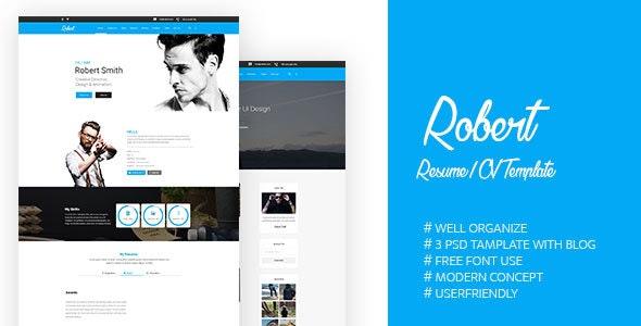 Robert-PSD Template - Portfolio Creative