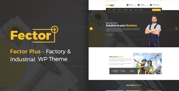 Fector Plus - Factory & Industrial WordPress Theme - Business Corporate