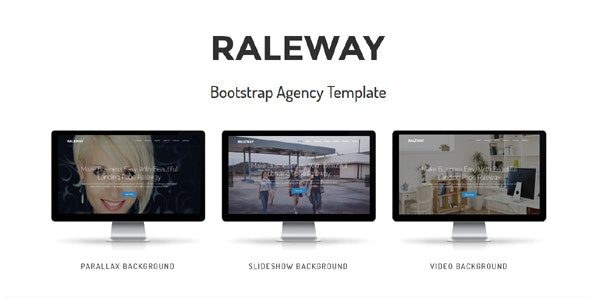 Raleway - Bootstrap Agency Template - Technology Site Templates