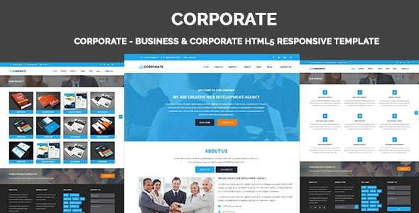 Corporate - Business & Corporate HTML5 Responsive Template - Corporate Site Templates