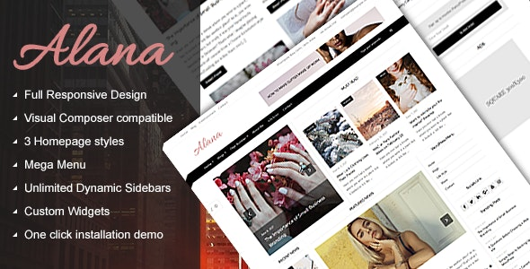 Alana - A Responsive WordPress Blog / Magazine Theme - Blog / Magazine WordPress