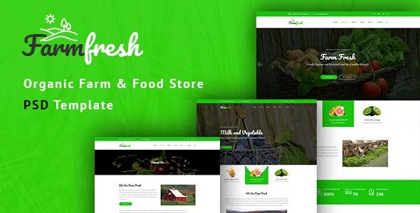 Farm Fresh - Organic Food & Eco Farm PSD Template - Food Retail