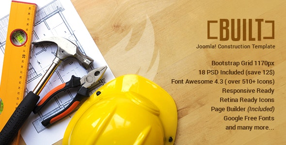 BUILT | Construction Business Joomla Template - Business Corporate