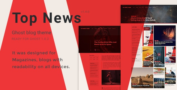 Top News - Magazine Themes - Ghost Themes Blogging