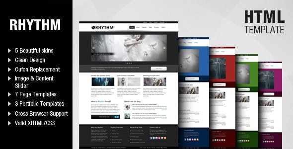 Rhythm Template - Corporate Site Templates