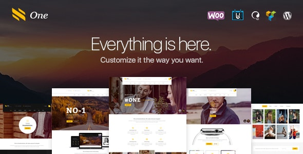 One - Business Agency Events WooCommerce Theme - Corporate WordPress
