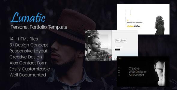 Lunatic - Personal Portfolio Template - Personal Site Templates