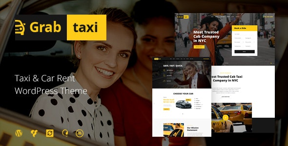 Grab Taxi | Online Cab Service WordPress Theme - Travel Retail