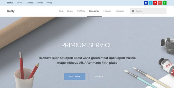 Bubly - Pleasant Looking Multipurpose  PSD Template