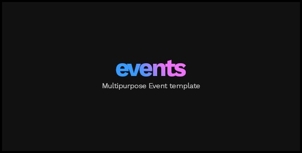 EVENTS - Multipurpose Conference Template - Events Entertainment