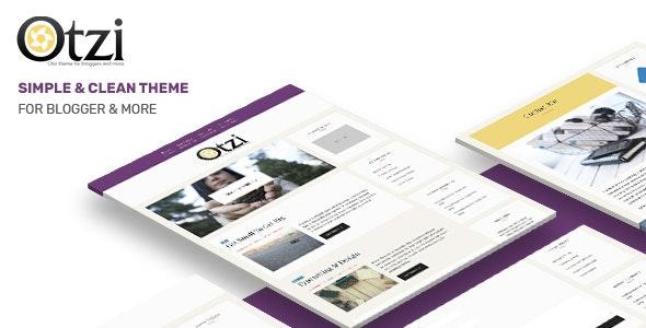 Otzi : Responsive WordPress Theme for Bloggers - Blog / Magazine WordPress